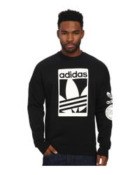 Adidas Originals | Black Street Graphic Crew for Men | Lyst