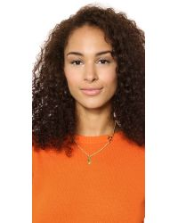 Marc By Marc Jacobs Metallic Pointing Bow Tie Necklace Safety Yellow