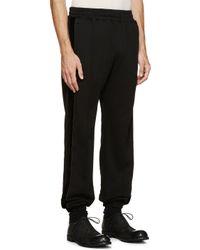 Haider Ackermann Black Velvet Stripe Lounge Pants for men