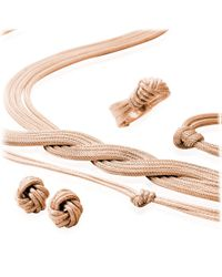 Astley Clarke - Pink Rose Gold Knot Earrings - Lyst