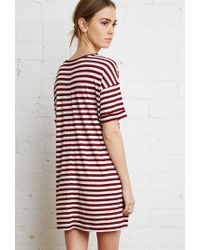 Forever 21 - Purple Striped Tunic - Lyst