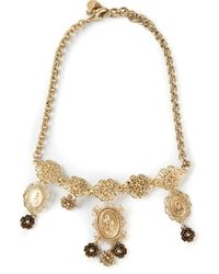 Dolce & Gabbana | Metallic Madonna Necklace | Lyst