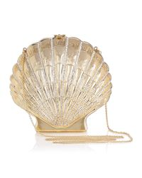 Charlotte Olympia Metallic Shell Shocked Shoulder Bag Gold