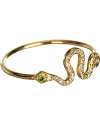 Ileana Makri | Multicolor Diamond & Tsavorite Mini Snake Ring | Lyst