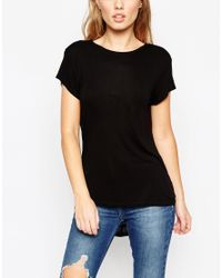ASOS | Black T-shirt With Scoop Back 2 Pack Save 15% | Lyst