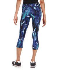 Kensie Blue Tie-dyed Running Tights