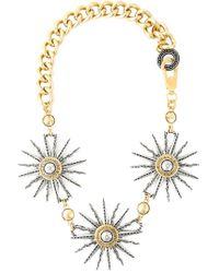 Fausto Puglisi - Metallic Sun Pendant Chain Necklace - Lyst