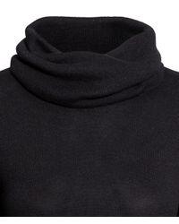 H&M Black Long Polo-neck Jumper