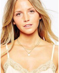 Pieces | Metallic Laura Necklace | Lyst