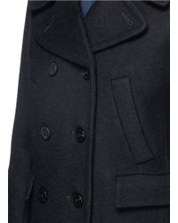 Theory Black Kenshon' Double Breasted Wool Coat