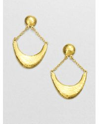 Gurhan | Metallic Arc 24k Yellow Gold Crescent Drop Earrings | Lyst