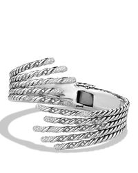 David Yurman | Metallic Willow Open Five-row Bracelet With Diamonds | Lyst