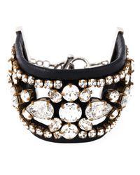 Shourouk | Black 'crystal Lace' Cuff | Lyst