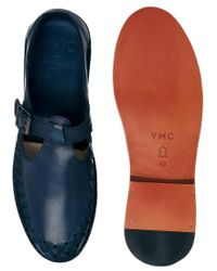 YMC - Brown Leather Monk Shoes for Men - Lyst