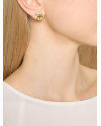 Fantasia Jewelry - Metallic Pave Asscher Earrings - Lyst