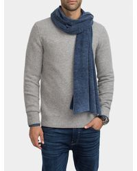 White + Warren | Blue Weathered Cashmere Scarf for Men | Lyst