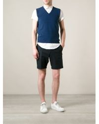 Zanone Blue Classic Vest for men
