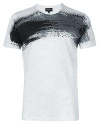Emporio Armani | Black T-shirt for Men | Lyst
