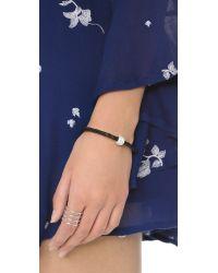 Liza Schwartz | The Single Bedazzle Bracelet - Black/clear | Lyst