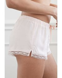 Forever 21 Pink Lacy Pintucked Pj Shorts You've Been Added To The Waitlist
