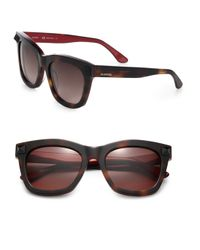 Valentino | Black Rock Stud 53mm Rectangular Sunglasses | Lyst