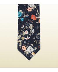Gucci - Multicolor Flora Knight Print Habutai Silk Tie for Men - Lyst