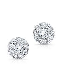 Anne Sisteron - 18kt White Gold Diamond Stud Earrings - Lyst