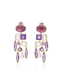 Bounkit | Multicolor Clear Quartz Drop Earrings | Lyst