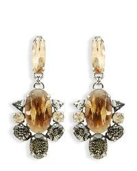 Moutoncollet | Metallic Moutton Collet Angels Clip On Drop Earrings | Lyst