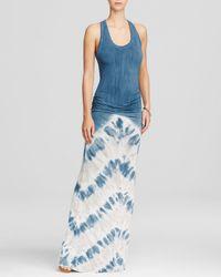 Young Fabulous & Broke - Blue Hamptons Tie-dye Print Maxi Dress - Lyst