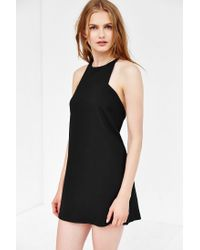 Silence + Noise - Black Marci Carved-neck Ponte Mini Dress - Lyst