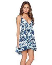 Lovers + Friends Blue Meet Me At Sunset Babydoll Dress