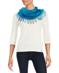 Lord & Taylor - Blue Ombre Infinity Scarf - Lyst