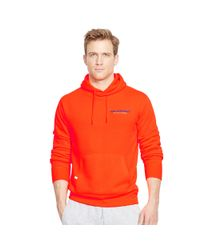 Ralph Lauren - Orange Fleece Pullover Hoodie for Men - Lyst