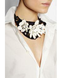 Marni White + V&A Swarovski Crystal And Resin Necklace