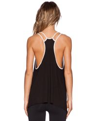 Blue Life | Black Fit Double Strap Tank | Lyst