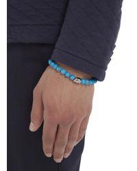 Simon Carter | Blue Turquoise Beaded Skull Bracelet for Men | Lyst