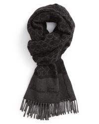 Ferragamo - Black 'gandam' Cashmere Scarf for Men - Lyst