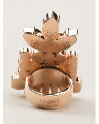 Mawi | Multicolor Embellished Chunky Ring | Lyst