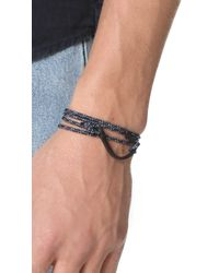 Miansai Blue Hook On Rope Noir Bracelet for men
