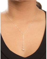 Dogeared - Metallic 3-5mm Freshwater Pearl And Sterling Silver Y-shaped Necklace - Lyst