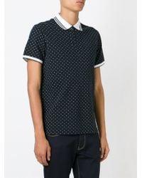 Armani Jeans - Black Small Logo Print Polo Shirt for Men - Lyst