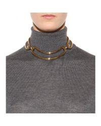 Balenciaga - Metallic Gold-Toned Necklace - Lyst