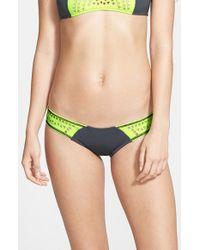 Rip Curl - Blue 'bomb' Laser Cut Hipster Bikini Bottoms - Lyst