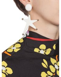 Marni - White Star-shaped Clip-on Earrings In Acrylic Resin - Lyst