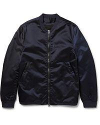 Acne Studios | Blue Selo Light Satin-Finish Shell Bomber Jacket for Men | Lyst