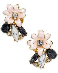 kate spade new york | Multicolor 14K Gold-Plated Glossy Petals Cluster Stud Earrings | Lyst