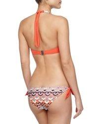 Missoni - Orange Wavy-print Halter Bikini - Lyst