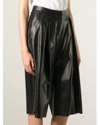 DROMe - Black Leather Culottes - Lyst