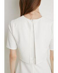 Forever 21 | White Layered Textured Dress | Lyst